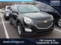 Clean CARFAX.  Black 2017 Chevrolet Equinox LT 2.4L