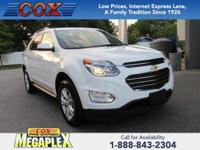This 2017 Chevrolet Equinox LT in White is well