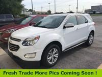 Recent Arrival! Summit White 2017 Chevrolet Equinox