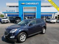 Blue 2017 Chevrolet Equinox LT FWD 6-Speed Automatic