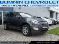Options:  2017 Chevrolet Equinox Lt|Gray| Internet