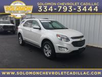 2017 Chevrolet Equinox LT in White vehicle highlights