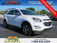 This 2017 Chevrolet Equinox Premier in Summit White is
