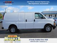 This 2017 Chevrolet Express 2500 Work Van in White is