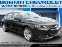 Options:  2017 Chevrolet Impala Ls|Black| Internet