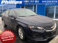 2017 Chevrolet Impala LT 1LT Blue Velvet Metallic 3-DAY
