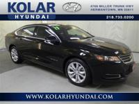 Impala LT 1LT. Classy Black! Low miles indicate the