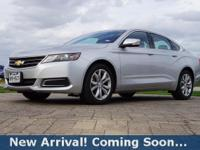 2017 Chevrolet Impala LT in Silver Ice Metallic, This