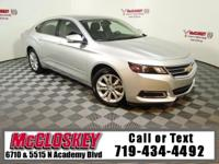 Like new 2017 Chevrolet Impala LT1 offering Bose