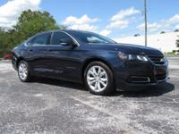 New Price! Certified. Blue 2017 Chevrolet Impala LT 1LT