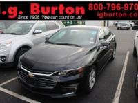 CARFAX One-Owner. Black 2017 Chevrolet Malibu LS 1LS