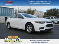 This 2017 Chevrolet Malibu LS in Summit White is well