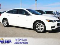 Summit White Chevrolet Malibu **ANOTHER WEBER 1-OWNER