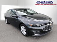 CARFAX One-Owner. Gray Metallic 2017 Chevrolet Malibu