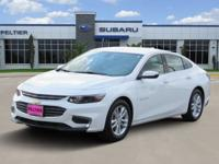 CARFAX One-Owner. White 2017 Chevrolet Malibu LT 1LT