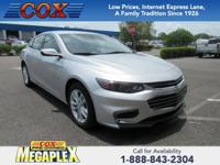 This 2017 Chevrolet Malibu LT in Silver Ice Metallic is