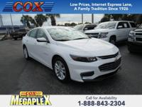 This 2017 Chevrolet Malibu LT in Summit White is well