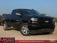 Clean CARFAX. Black 2017 Chevrolet Silverado 1500