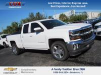 This 2017 Chevrolet Silverado 1500 LT in White is well