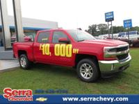 This Red 2017 Silverado 1500 LT 4WD Crew Cab is a 5.3L