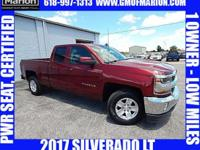 CARFAX One-Owner. Clean CARFAX. Maroon 2017 Chevrolet