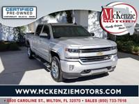 Certified. Silver Ice Metallic 2017 Chevrolet Silverado