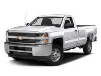2017 Chevrolet Silverado 2500HD Work Truck 6-Speed