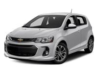 2017 Chevrolet Sonic LT 34/24 Highway/City MPG