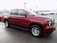 Clean CARFAX. Red Tintcoat 2017 Chevrolet Suburban LT