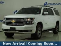 2017 Chevrolet Suburban LT in Summit White, 4WD, This