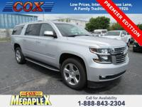 This 2017 Chevrolet Suburban Premier in Silver Ice