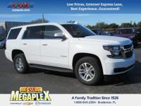 This 2017 Chevrolet Tahoe LT in White is well equipped