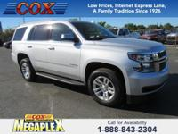 Certified. This 2017 Chevrolet Tahoe LT in Silver Ice