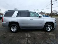 2017 CHEVROLET TAHOE**4WD**LT**SILVER W/ BLACK LEATHER