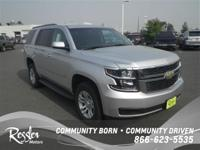 4 Wheel Drive. This Silver 2017 Chevrolet Tahoe is
