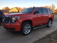 Special ordered Tahoe in victory red. We ordered this