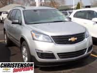 2017+Chevrolet+Traverse+LS+In+Silver+Ice+Metallic.+Won%