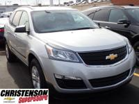 2017+Chevrolet+Traverse+LS+In+Silver+Ice+Metallic.+Come