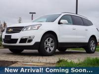 2017 Chevrolet Traverse LT in Summit White, AWD, This