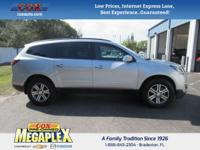 This 2017 Chevrolet Traverse LT in Silver is well