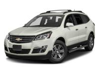 2017 Chevrolet Traverse LT 2LT  CARFAX One-Owner. Clean