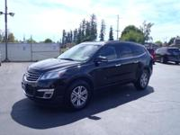 CARFAX One-Owner. 2017 Chevrolet Traverse LT Black One