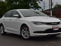 New Price! Clean CARFAX. White 2017 Chrysler 200 LX FWD