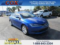 This 2017 Chrysler 200 LX in Vivid Blue Pearlcoat is