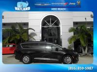 Certified. Black 2017 Chrysler Pacifica Touring L FWD