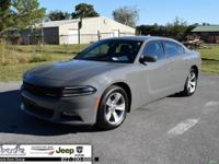 Grey 2017 Dodge Charger SXT RWD 8-Speed Automatic 3.6L