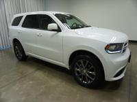 2017 Dodge Durango White GT 8-Speed Automatic AWD 3.6L