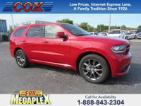 This 2017 Dodge Durango GT in Redline 2 Coat Pearl is