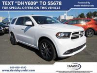 White 2017 Dodge Durango GT RWD 8-Speed Automatic 3.6L