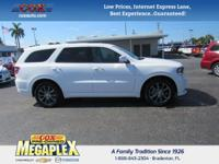 This 2017 Dodge Durango GT in White Knuckle Clearcoat